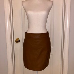 The Limited brown faux leather mini skirt, size 4
